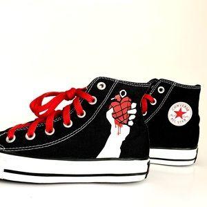 Rare Green Day All Star Converse High Tops